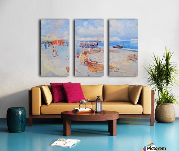 Beach of Mergellina Toile Multi-Panneaux
