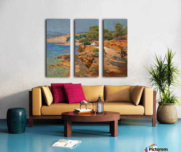 Landscape along the Italian coast Toile Multi-Panneaux