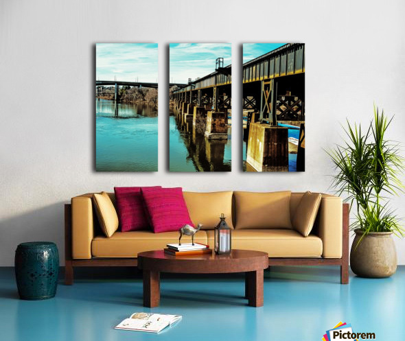 Bridge Over Troubled Waters Split Canvas print