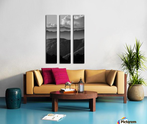 Layers of grey Split Canvas print