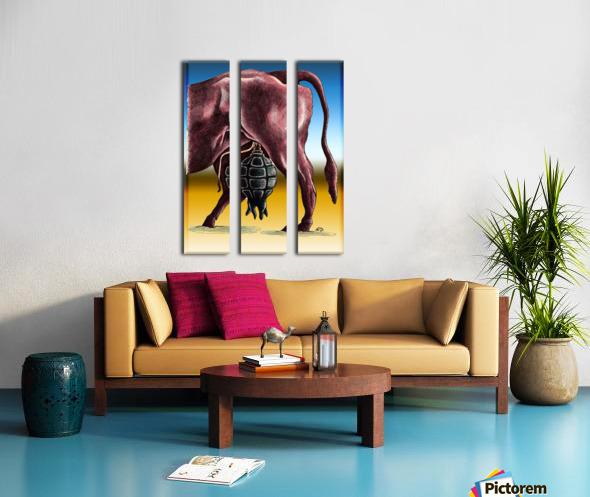 cow Split Canvas print