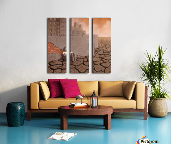 Dead City Split Canvas print
