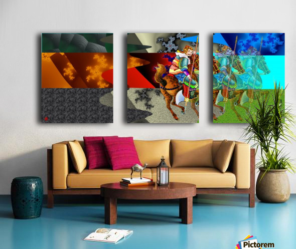 A Return thro' Space & Time Split Canvas print