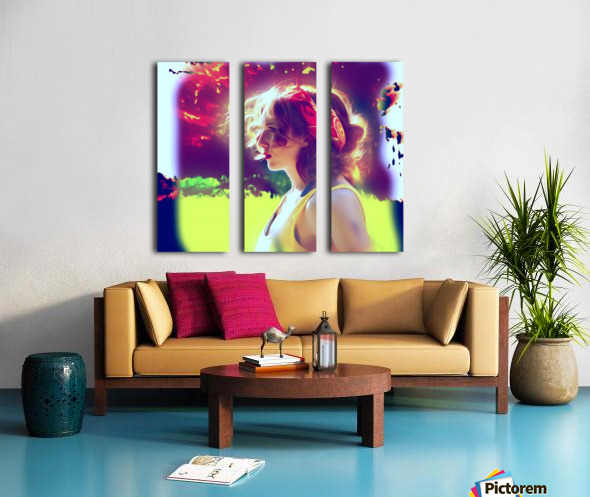 girlBRIGHTsun Split Canvas print