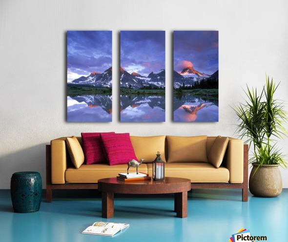 Mt Assiniboine Provincial Park, British Columbia, Canada Split Canvas print