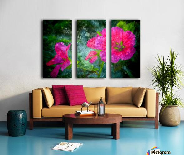 Fleurs d'artifices Split Canvas print
