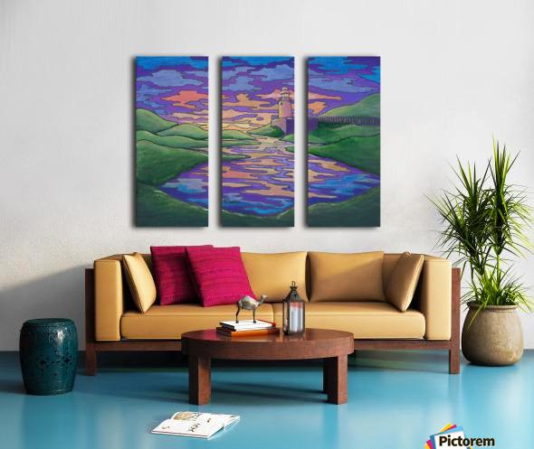 Twilight Split Canvas print