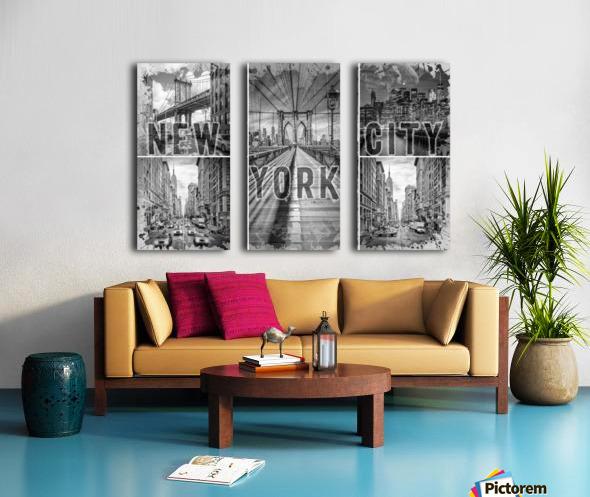NEW YORK CITY Urban Collage No. 3 Split Canvas print