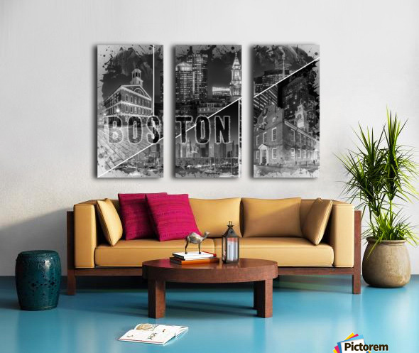BOSTON Urban Collage No. 1 Split Canvas print