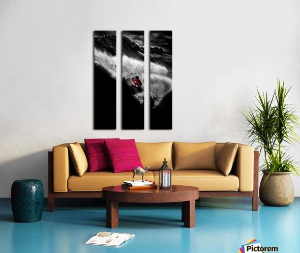 Dark Freeride Split Canvas print