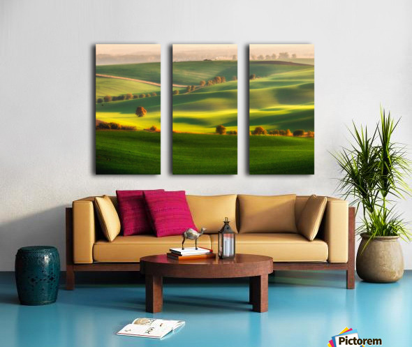 Green fields Split Canvas print