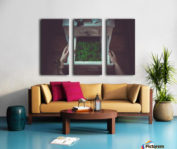 Avoir la main verte Split Canvas print