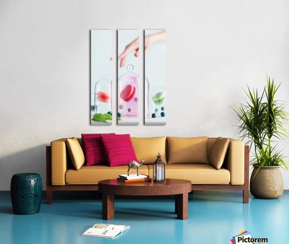 Precious macarons Split Canvas print