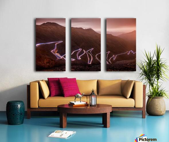 Winding light Split Canvas print