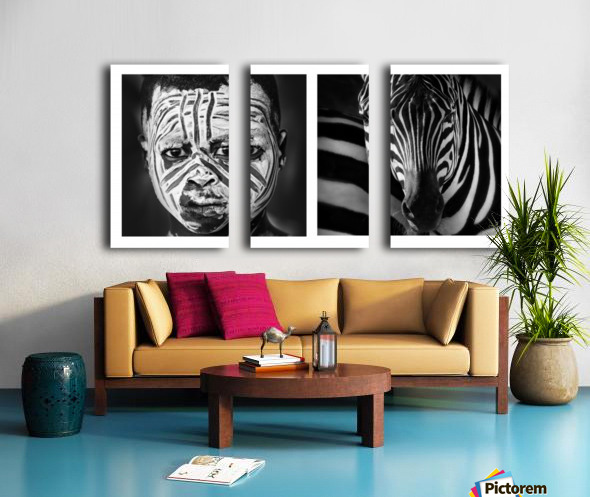 Mimetic Split Canvas print