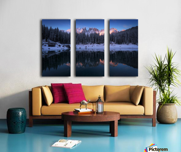 The first morning Split Canvas print