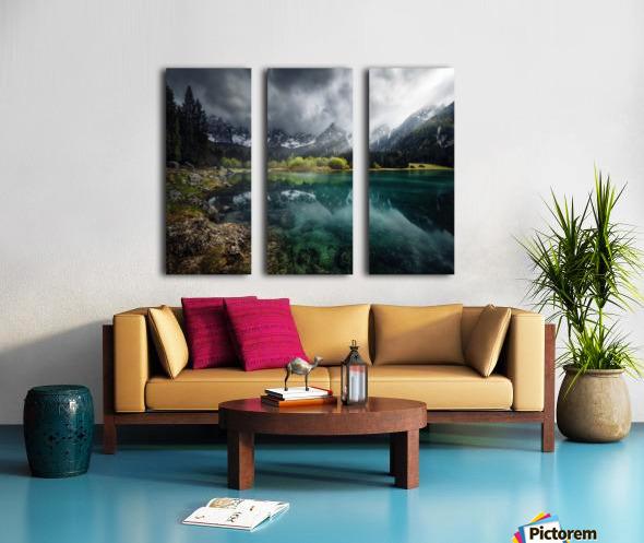 Azul turquesa. Split Canvas print