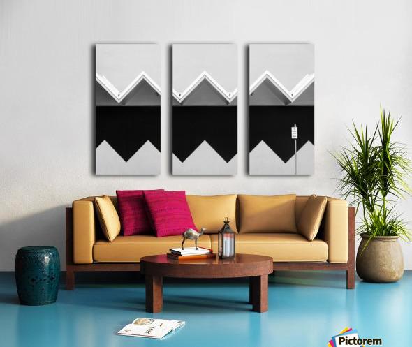 Zig Zag Shadow Split Canvas print