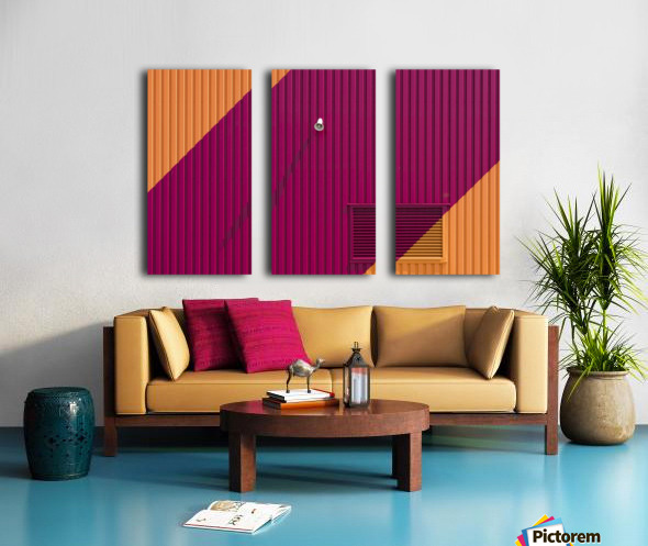 Orange corners Split Canvas print