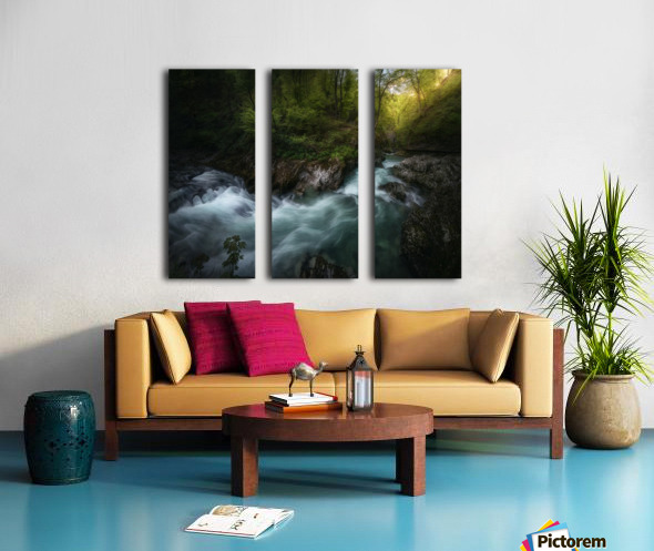Gorge 1. Split Canvas print