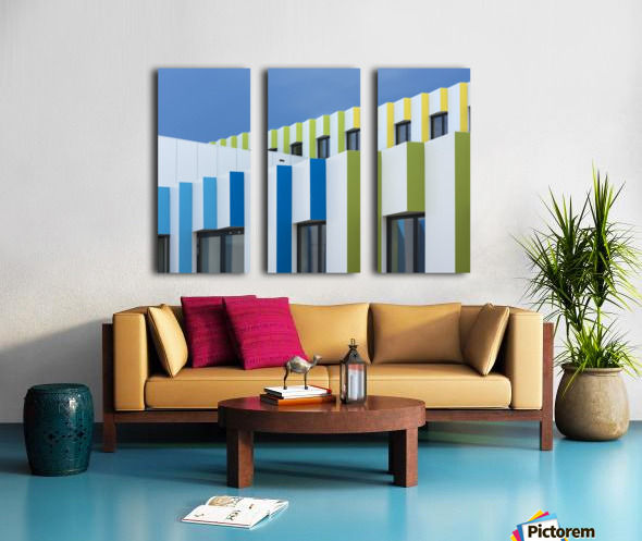 Triple facades Split Canvas print