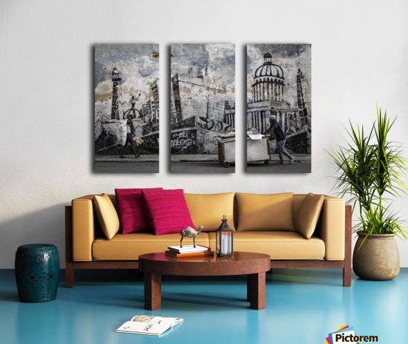 Mi Habana Split Canvas print