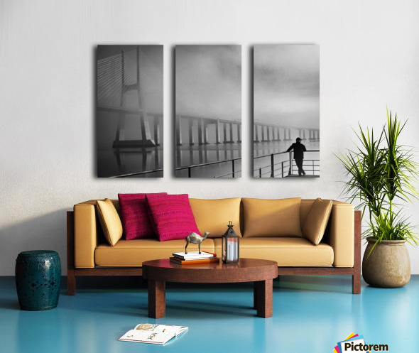 Vasco da Gama Bridge - Lisbon Split Canvas print