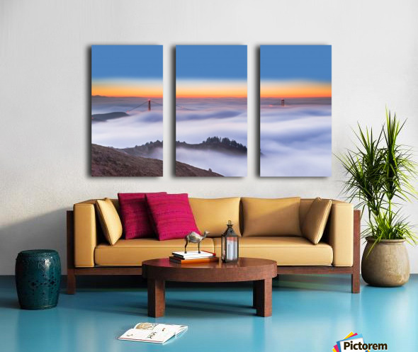 The Golden Gate Bridge in the Fog Split Canvas print