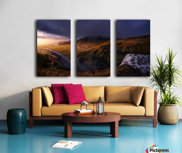 A different Skogafoss Split Canvas print