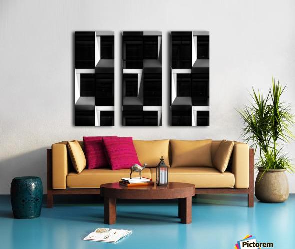 B&W Split Canvas print