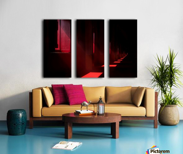 In the red temple Split Canvas print