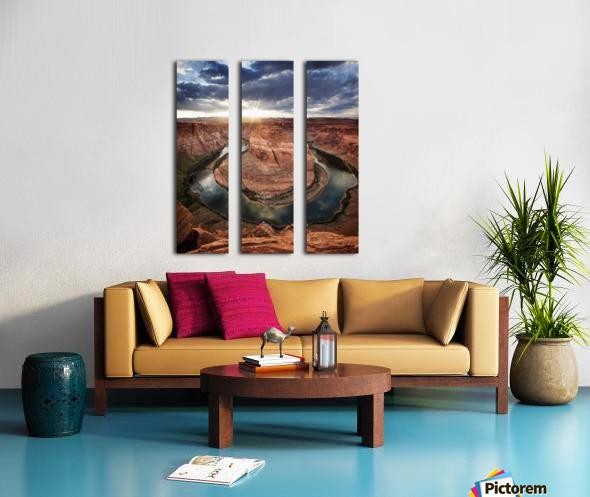 Dramatic sunset at Horseshoe Bend; Page, Arizona, United States of America Split Canvas print