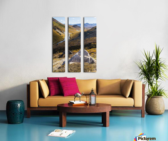 Savage River and the landscape in the rocky high country, Denali National Park and Preserve, interior Alaska; Alaska, United States of America Split Canvas print