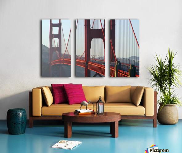 R.Watts; Golden Gate Bridge, San Francisco, Ca Split Canvas print