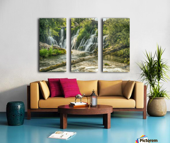 The Deschutes River Falls at the base of the old Olympia Brewery, an HDR image of only a portion of the falls; Tumwater, Washington, United States of America Split Canvas print
