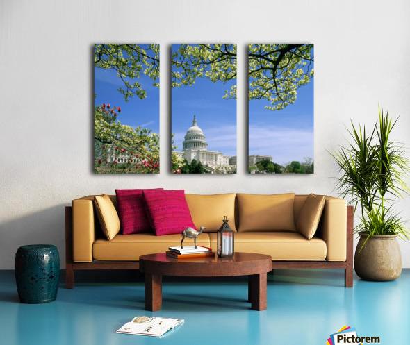 R.Watts; Capitol Building Washington, Dc Split Canvas print