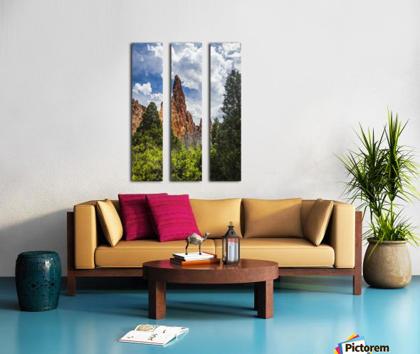 Garden of the Gods; Colorado Springs, Colorado, United States of America Split Canvas print