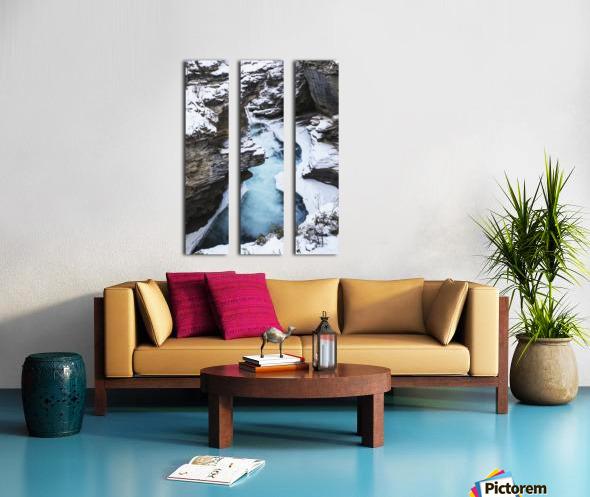 Athabasca Falls in winter, Jasper National Park; Alberta, Canada Split Canvas print