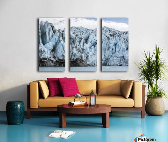Front face of Colony Glacier, South-central Alaska; Alaska, United States of America Split Canvas print