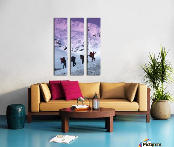 Mountain Climbers Byron Glacier Southcentral Ak Spring Split Canvas print