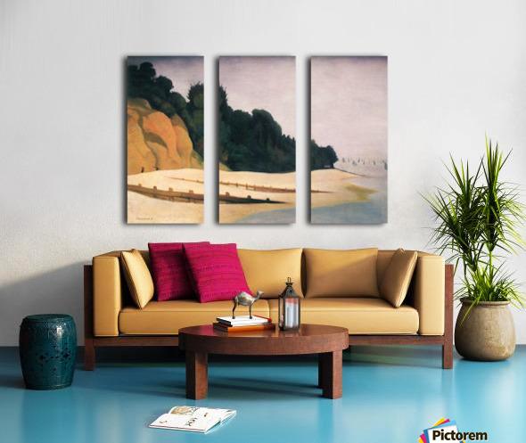 Shore scene with tree silhouette by Felix Vallotton Split Canvas print