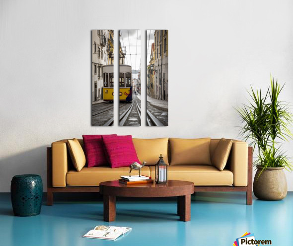 Tram; Lisbon, Portugal Split Canvas print
