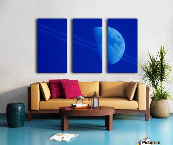 Moon lines Split Canvas print