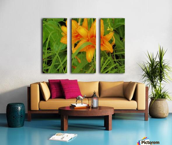Oranger Lilly 2 Split Canvas print