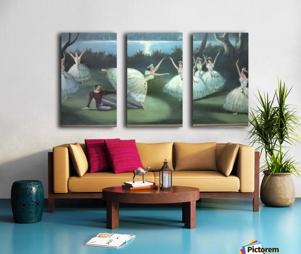 dancing  in moon lights Split Canvas print