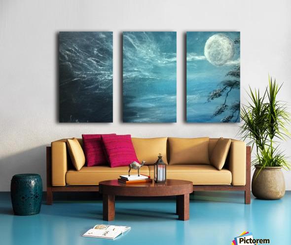 moon aura Split Canvas print