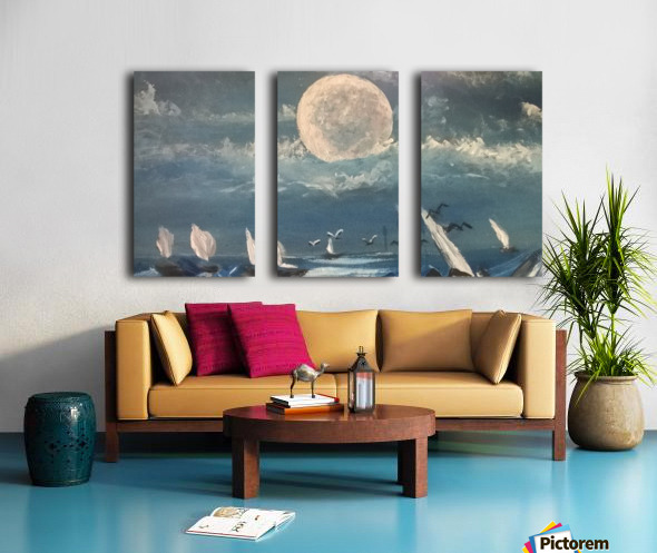 moon aura Split Canvas print