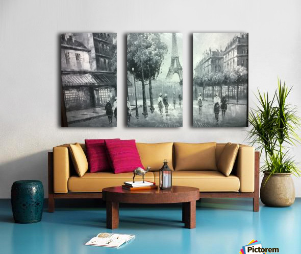 paris  Split Canvas print
