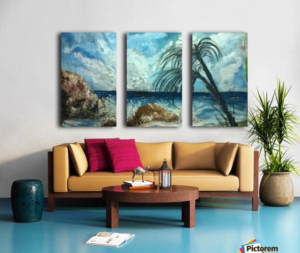 version island    Split Canvas print