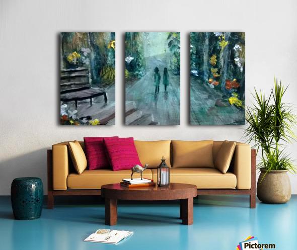 lovers Split Canvas print